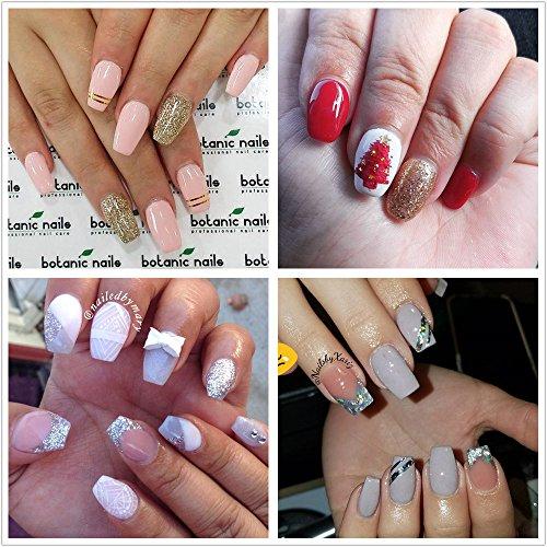 Ecbasket Acrylic Nail Tips Natural Fake Nails Short Oval: ECBASKET Coffin Nails Acrylic Nail Tips Short Ballerina