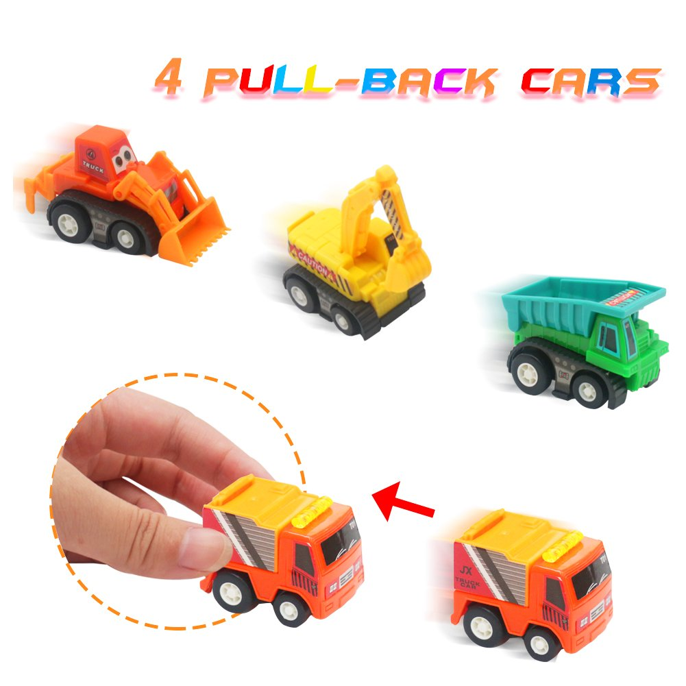 Modelos de Vehículos Camiones Set Juguetes con Delicado Folleto de Colorear Tire Hacia Atrás Coche de Plástico para Niños de 3 4 5 6