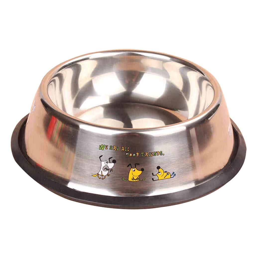 6 Stainless Steel Dog Bowl with Rubber Base for Small Medium Large Dogs, Pets Feeder Bowl and Water Bowl Perfect Choice (color   6)