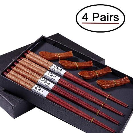 Palillos Japoneses, Opret 4 pares Palillos de Madera ...