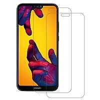 Pellicola Vetro Temperato Huawei P20 Lite, 2 Pack POOPHUNS Huawei P20 Lite Pellicola Protettiva(0,3mm HD Alta trasparente), Huawei P20 Lite Protezione Schermo Trasparente ultra resistente,Vetro Temperato Screen Protector(Bordi Arrotondati da 2.5D)per P20 Lite