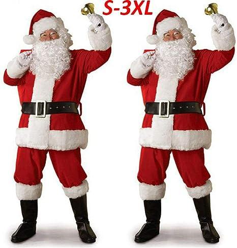 CHANGL Traje de Papá Noel de Navidad Cosplay Ropa de Papá Noel ...