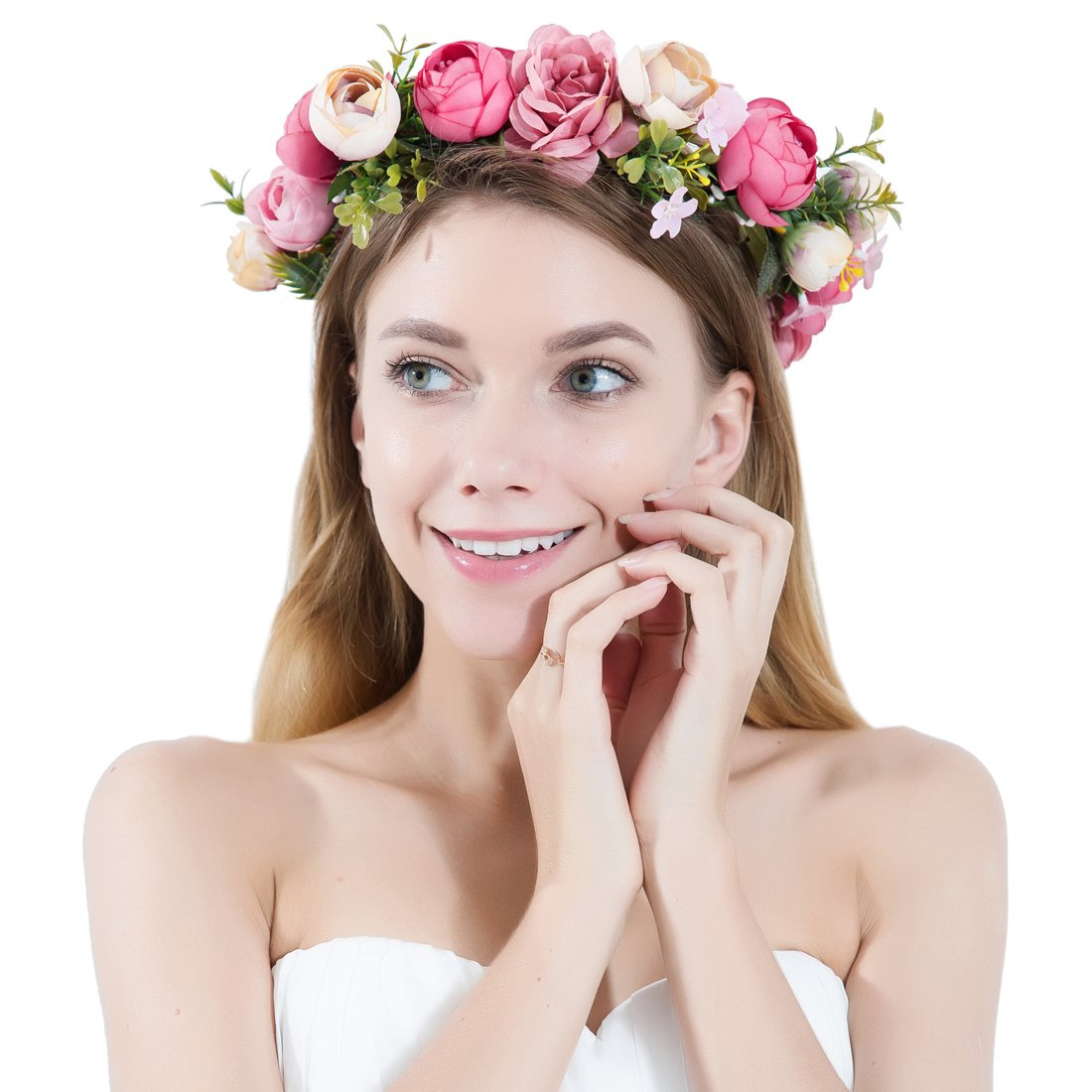Amazon Women Flower Wreath Crown Floral Wedding Garland