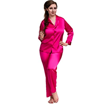 46b3fd6165 Image Unavailable. Image not available for. Color  Sexy Satin Pyjamas ...