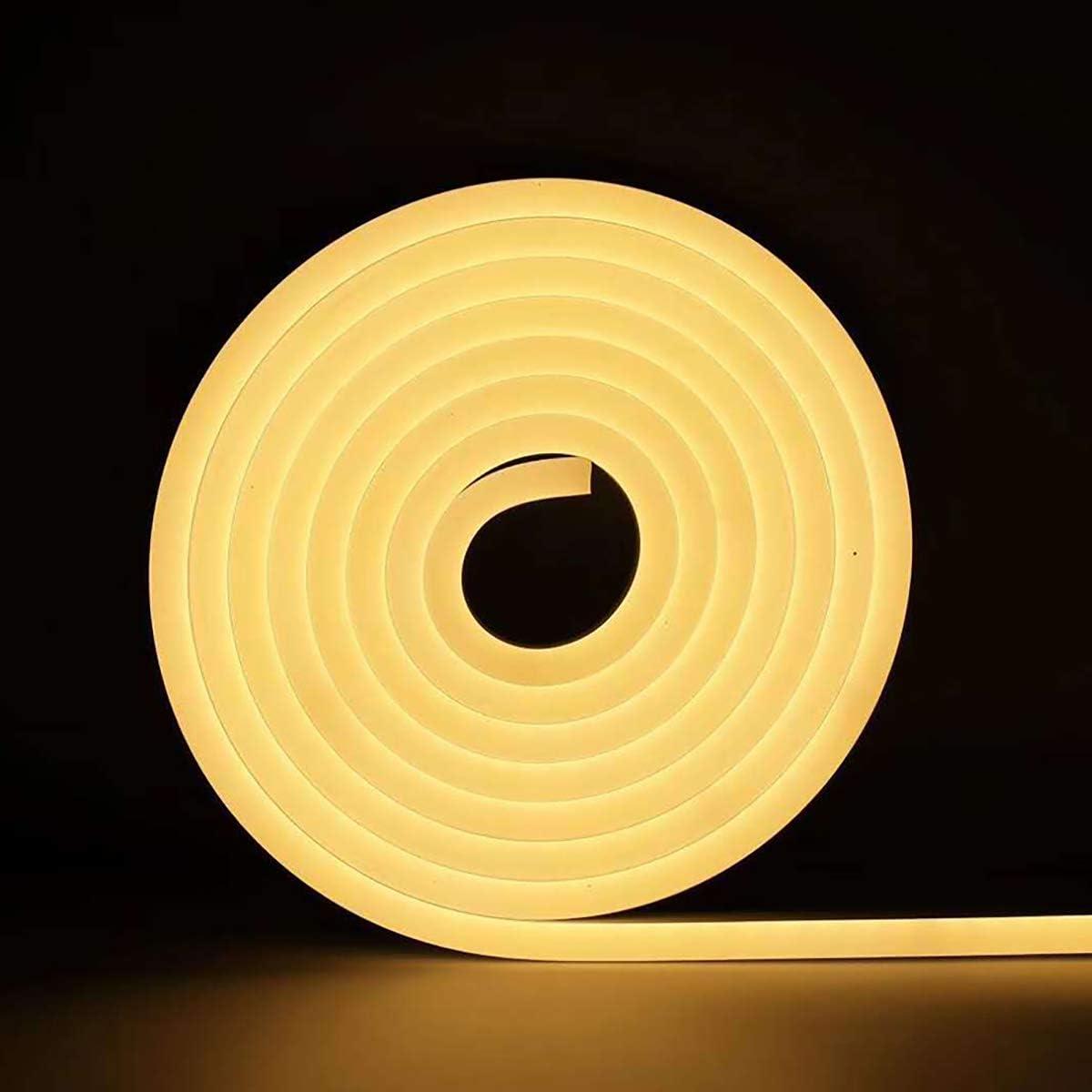 DDELLK Neon LED Strip LED Neonstreifen Licht Lichterschlauch Wire Neon Draht Leuchtkabel Lighting Weihnachten Licht Innen//Au/ßen f/ür Garten Dekoration