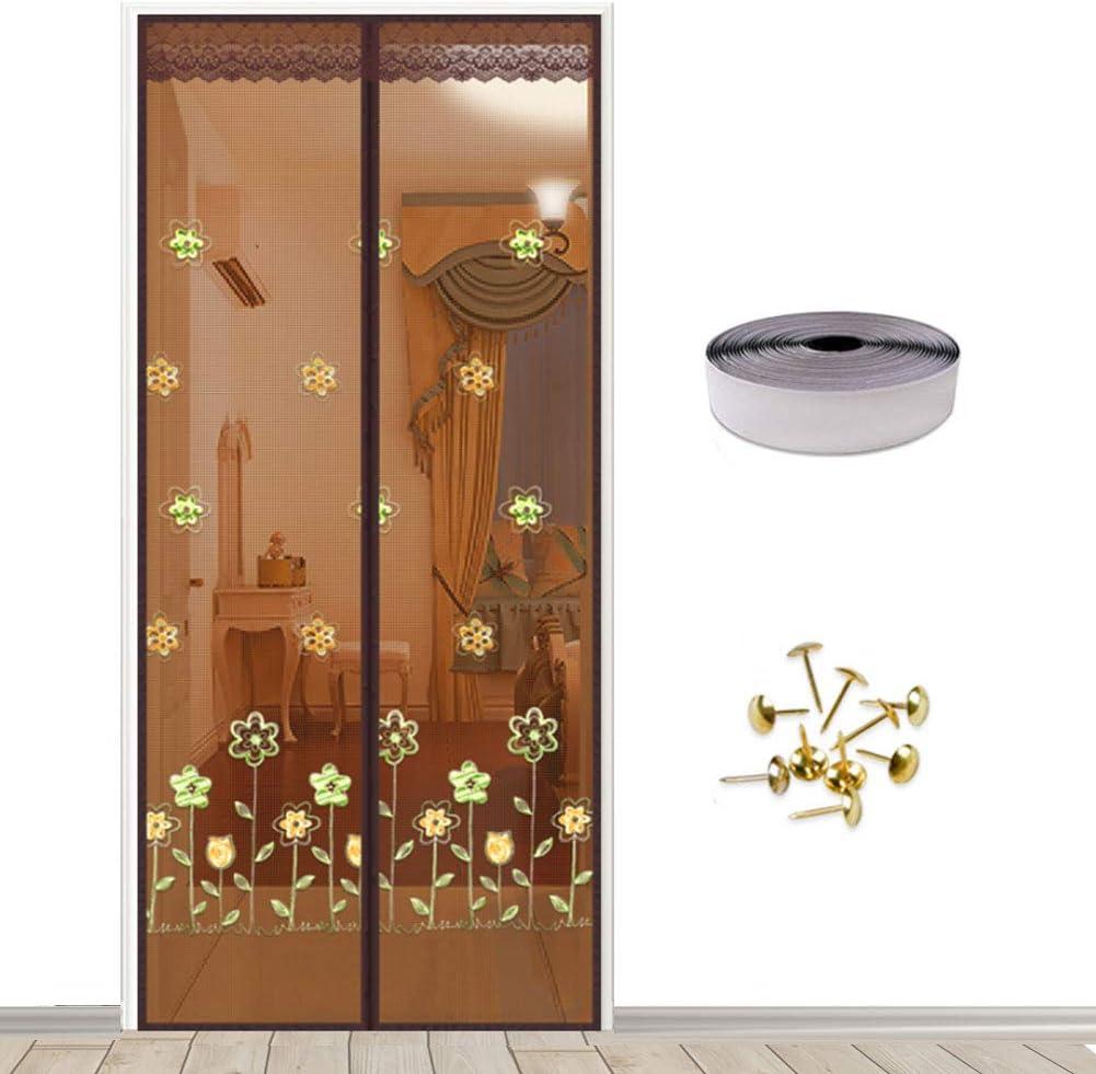 Mosquitera magnética para puerta, Magic Mesh, mosquitera, cierre automático con imán, red de buena calidad, cortina mosquitera para puertas de entrada, puertas, cortos, StyleD, 110 x 220 cm: Amazon.es: Bricolaje y herramientas