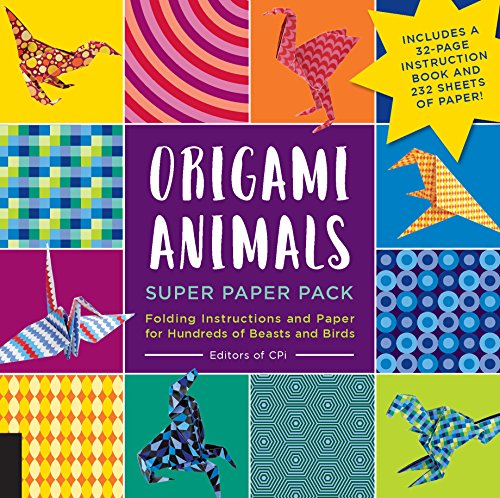 Origami Animals Super Paper Pack: Folding Instructions and Paper for Hundreds of Beasts and Birds--Includes a 32-page instruction book and 232 sheets of paper! (Origami Super Paper - Origami Make Crane