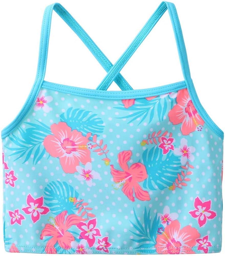 HUAANIUE Bademode Kinder Badeanzug M/ädchen~ Bikini Dreiteilig Badeanzug-Set UV-Schutzkleidung Sonnendchutz Rot 4-12Jahre