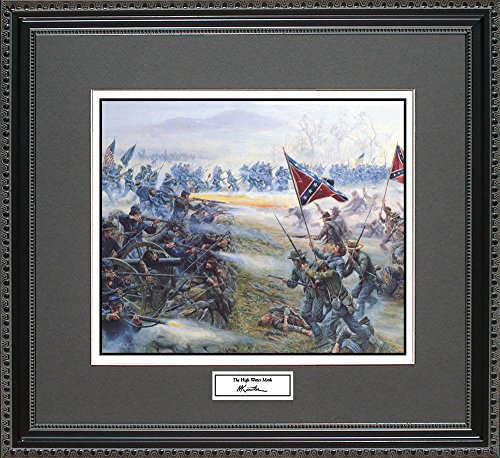 Mort Kunstler THE HIGH WATER MARK Framed Wall Art Civil War Print, 18x16