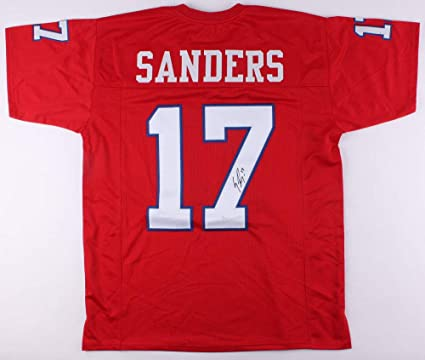 size 40 60b90 9d55f Emmanuel Sanders Autographed Signed Smu Mustangs Jersey ...