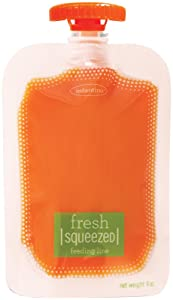 Infantino Squeeze Pouch, Clear, 4 Fluid Ounces (Discontinued by Manufacturer)