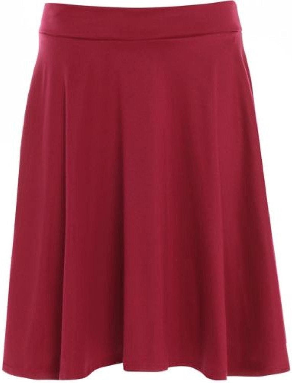 Falda de vuelo para mujer, tallas grandes, sencilla, estilo patinadora, diseño de tartán, tallas 42 a 56