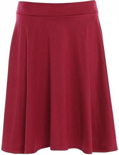 WearAll - Grande taille uni mini-jupe évasé - Jupes - Femmes - Tailles 42 à  56  Amazon.fr  Vêtements et accessoires 6d99cc58e7d4