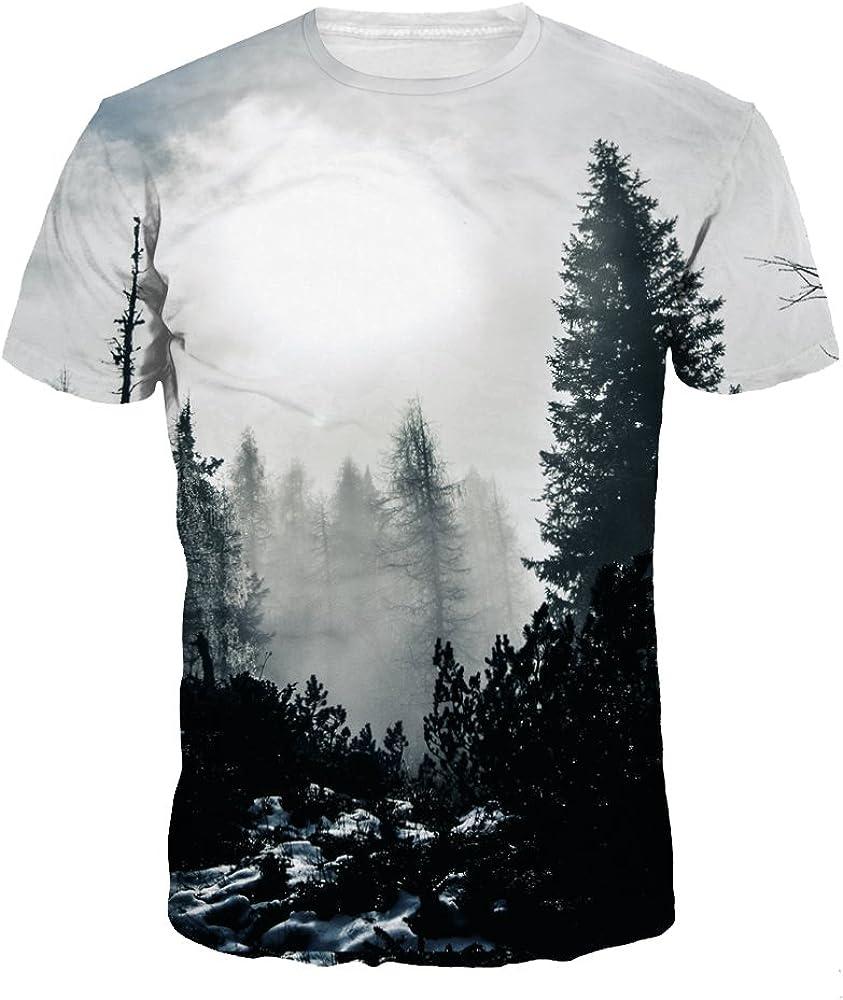 Unisex 3D Printed T-Shirt Sweatshirts Mens Short Sleeve Summer Athletic Tees Tops