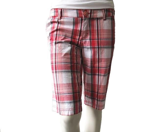 Shorts Vans Damen Bermuda, Rot Karomuster in Größe 5