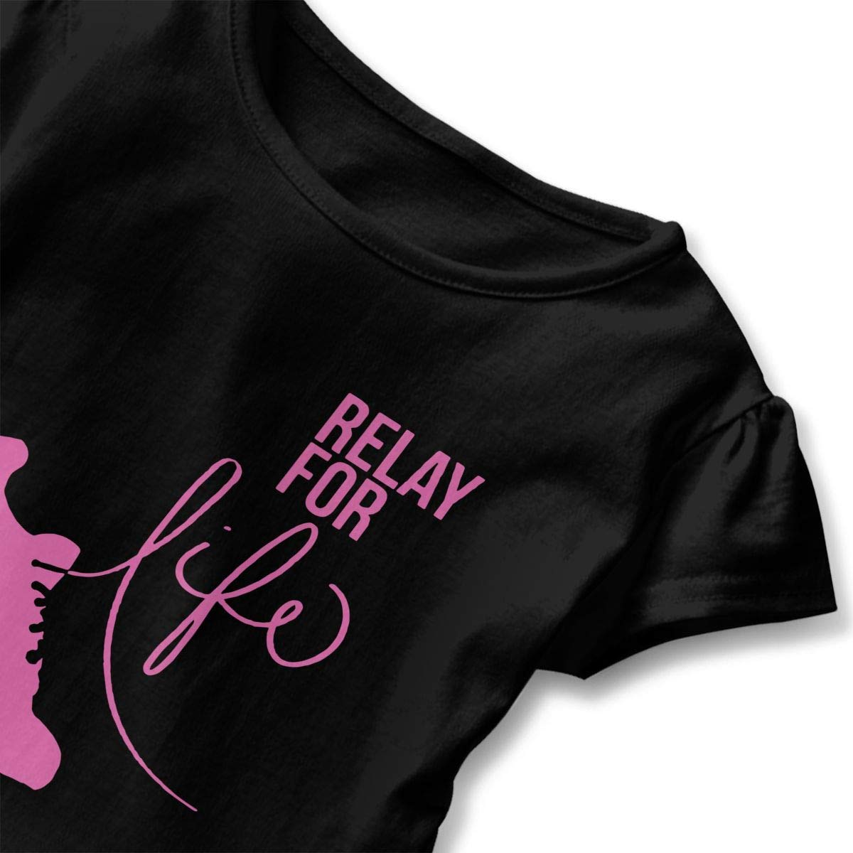 Ruffled Blouse Clothes with Flounces lu fangfangc Girls Short Sleeve Relay for Life Run Shirts 2-6T