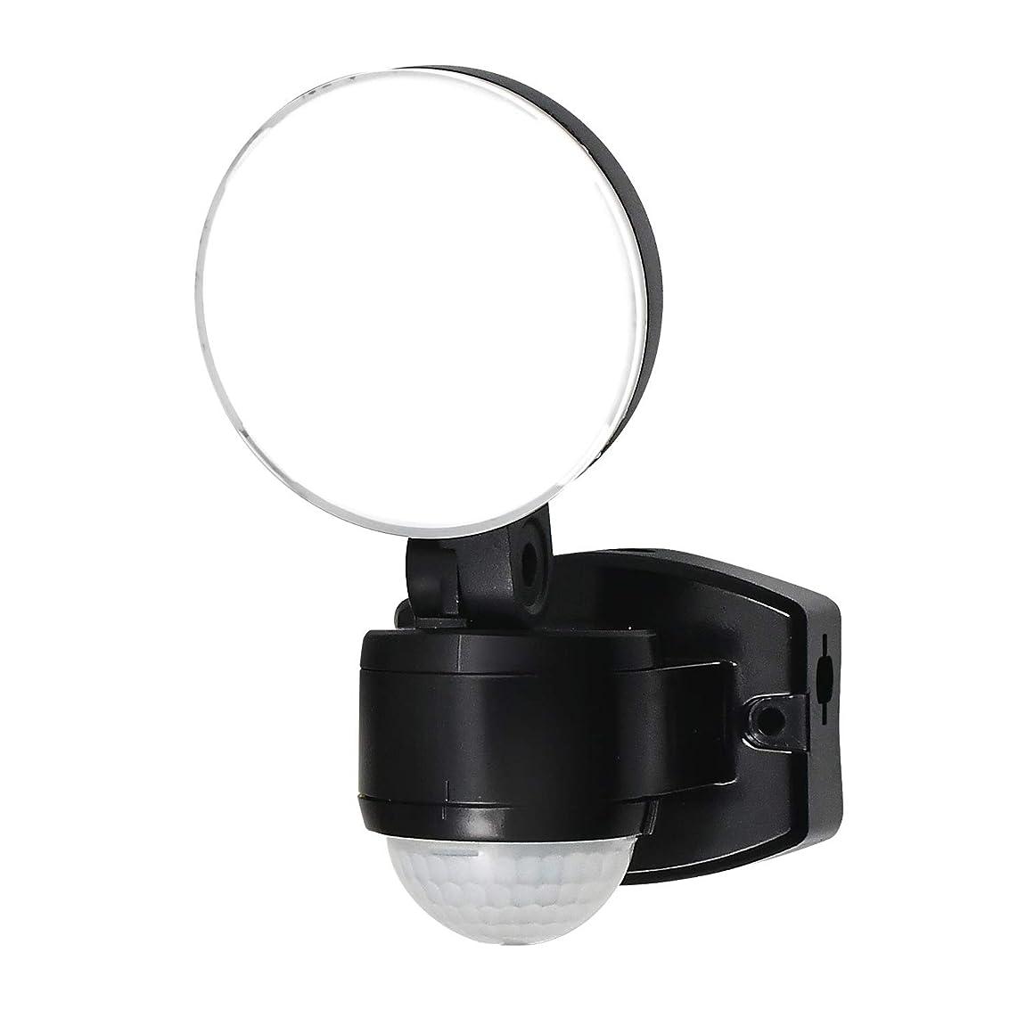 トラフミケランジェロ文房具ムサシ RITEX フリーアーム式LEDセンサーライト(4.5Wワイド) 「乾電池式」 防雨型 LED-150