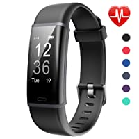 Lintelek Fitness Tracker, Customized Activity Tracker with Heart Rate Monitor, 14 Sports Modes Smart Watch Bluetooth Pedometer for Men, Women and Kids