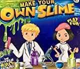 Slime Kit Lab Jumbo DIY 6 Batches of Includes Ingredients and Supplies for 6 Different Batches of, Glow In The Dark, Neon colors