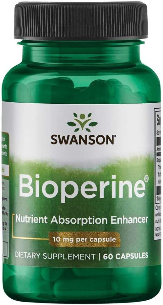 Swanson Bioperine Nutrient Absorption Enhancer 10 Milligrams 60 Capsules