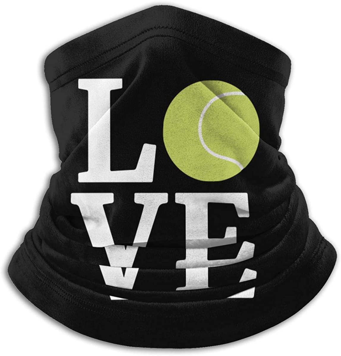 Love Tennis Ball Men /& Women Face Mask Windproof Neck Warmer Cold Weather Neck Gaiter For Fishing Motorcycling