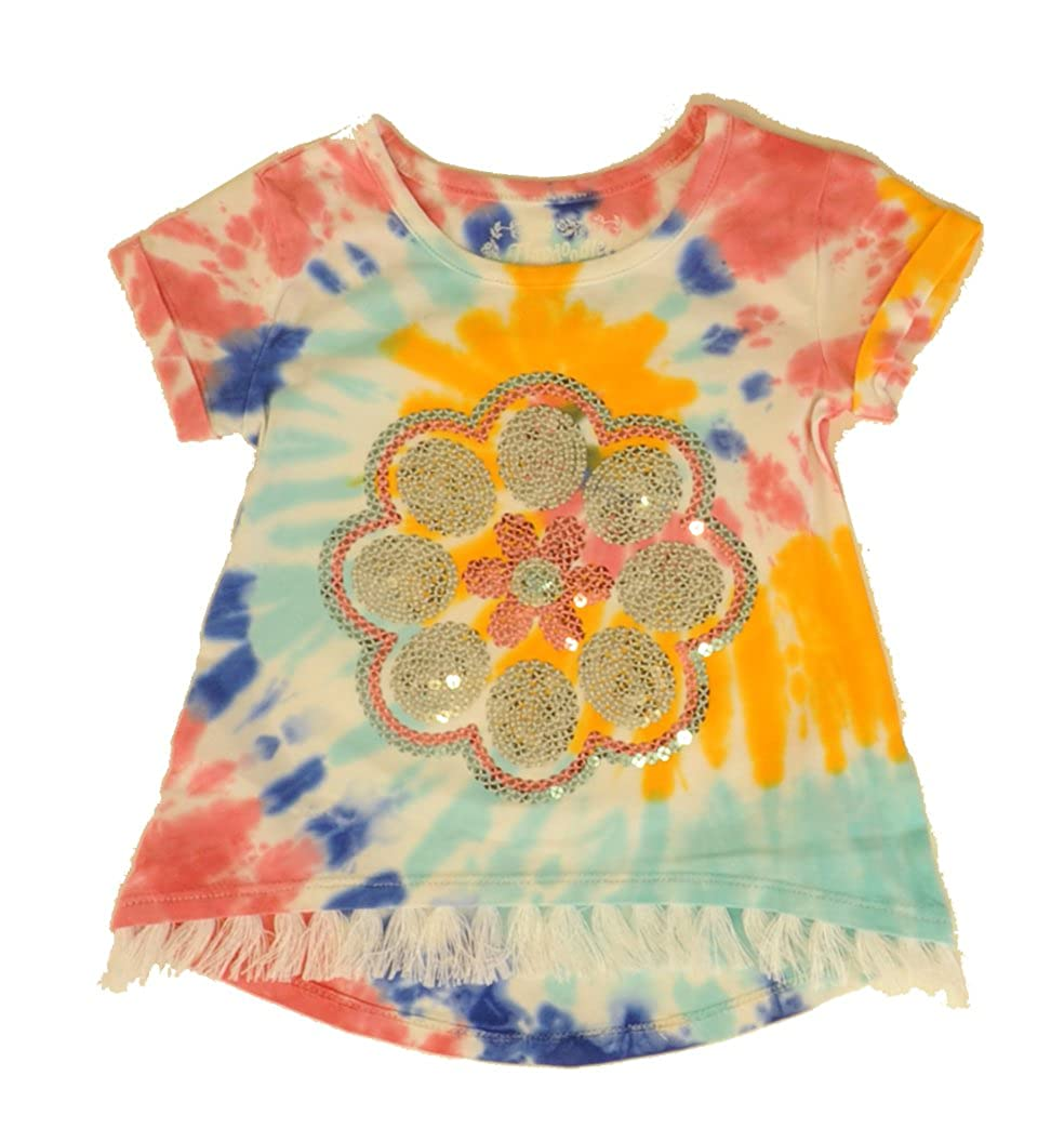 Flapdoodles Flower Tie Dye Top