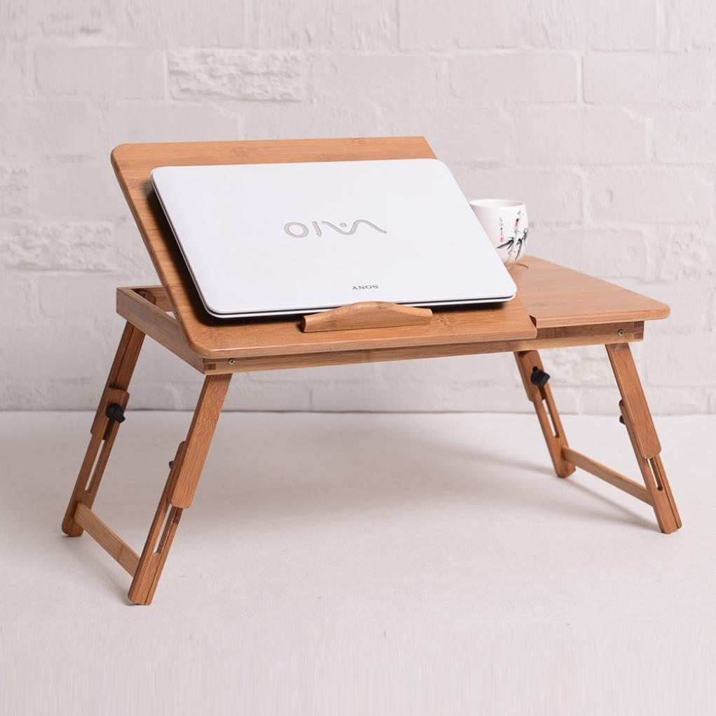 Amazon.co.jp: ベッドテーブル おしゃれ エコ 竹繊維 ベッド上