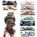 Beach Headbands for Women, 9 Pack Women's Boho Headbands for Women Girls Wide Bohemian Knotted Yoga Headband Head Wrap Hair Band Elastic Hair Band Accessories for girl