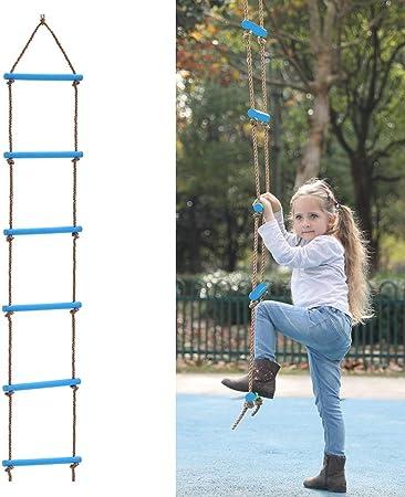 ROCK1ON 6 Pasos Escalera de Cuerda de Escalada para ...