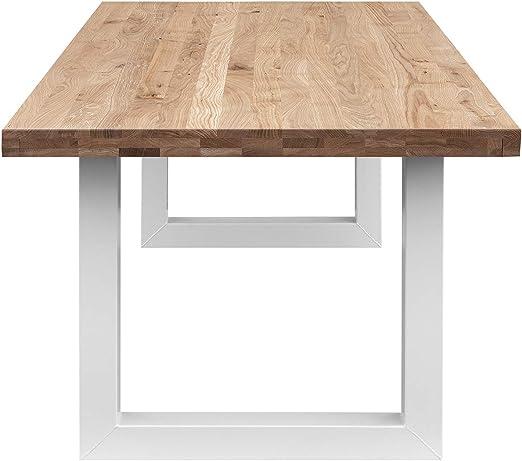 COMIFORT Mesa Comedor - Mueble de Oficina de Roble Macizo Dorado ...