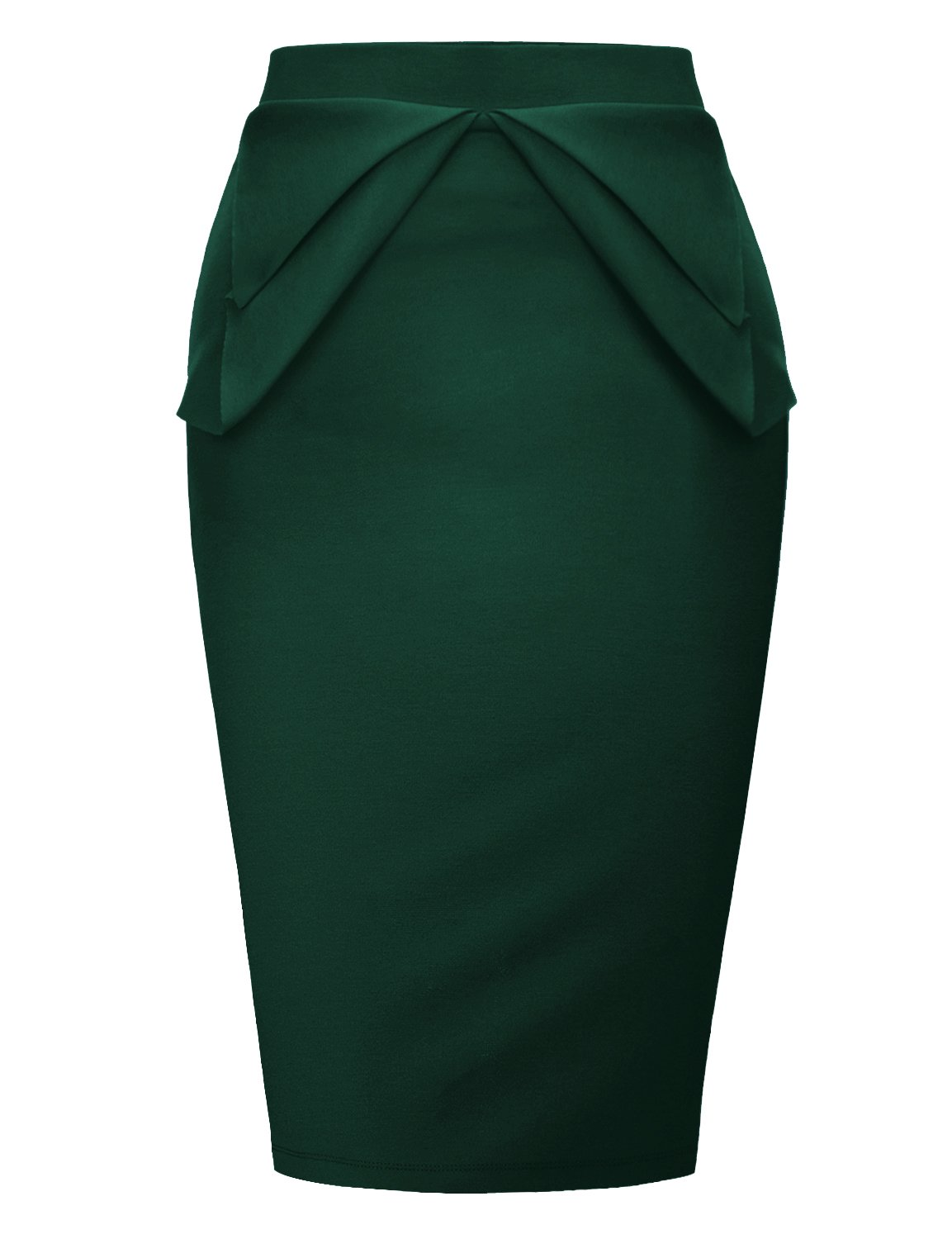 Regna X Love Coated Womens Lined midi Slim Skirt Green 2XL