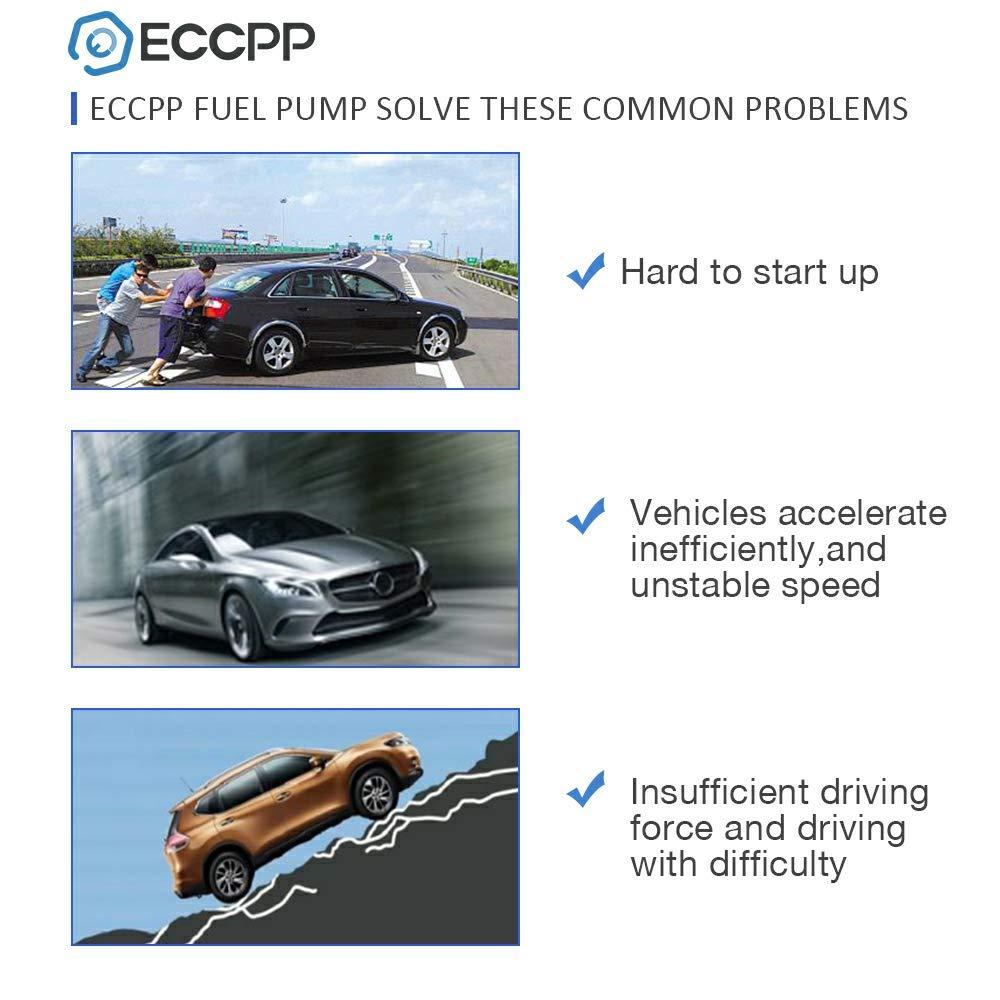 ECCPP Electric Fuel Pump Module Assembly w//Sending Unit Replacement for Chevy Silverado GMC Sierra C1500 K1500 C2500 K2500 Suburban 1998 1999 5.7L 7.4L E3994M