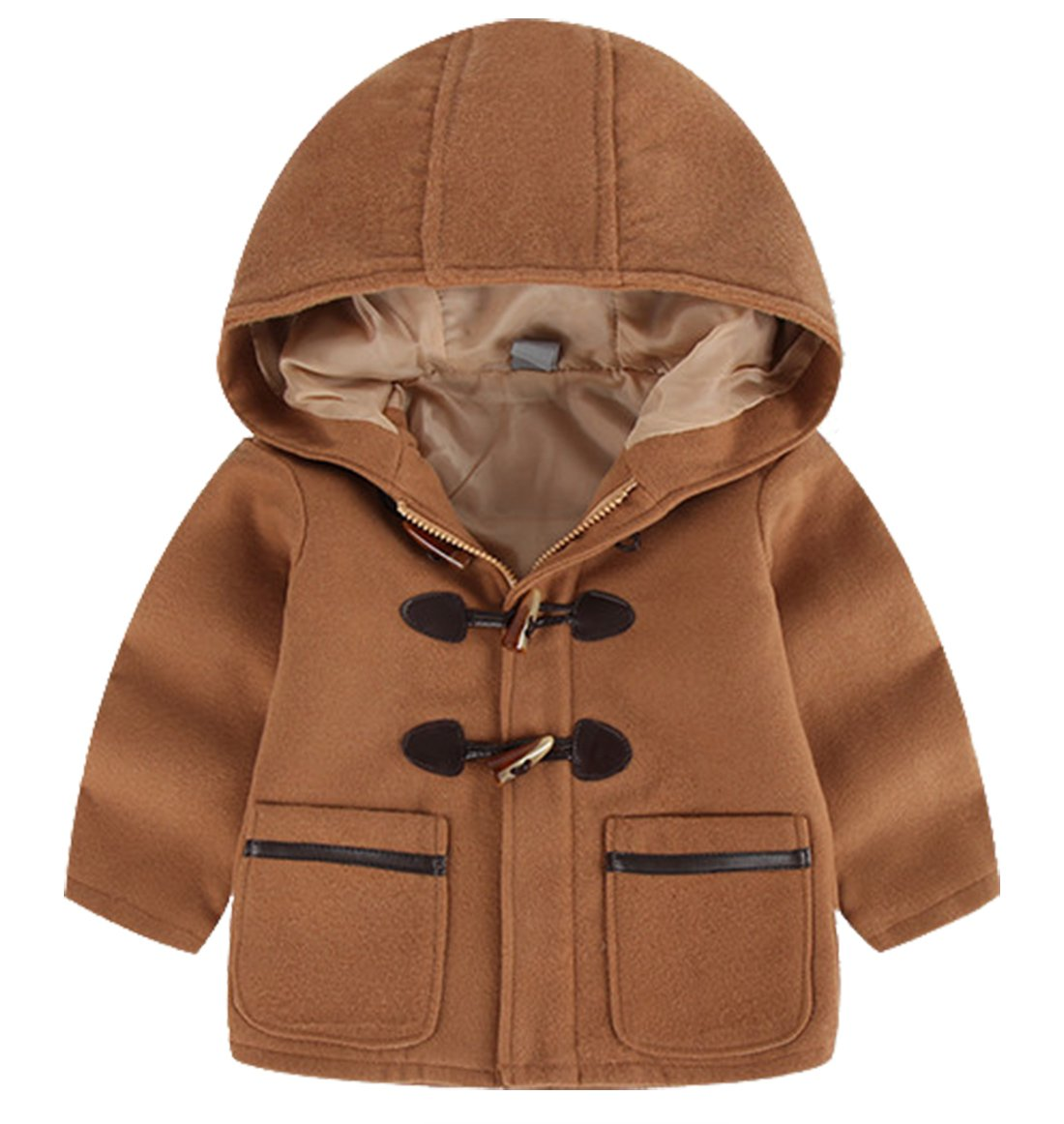TXYSEFS Boys Coat Warm Jacket Hooded Overcoat Zipper Outwear