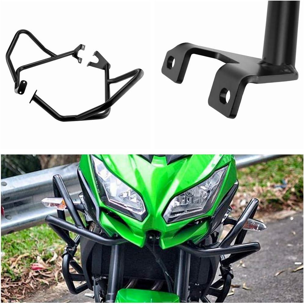 Motorcycle Engine Guard Protector Bumper Upper Crash Bars For KAWA-SAKI Versys 650 KLE650 2015 2016 2017 2018 Black New Versys650