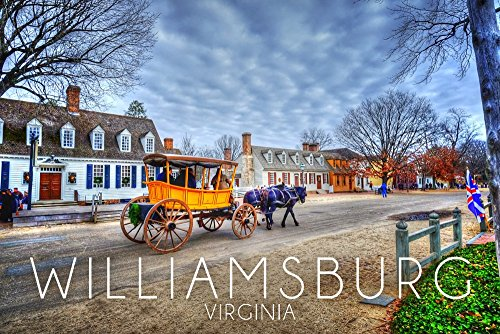 (Williamsburg, Virginia - Horse and Buggy (9x12 Art Print, Wall Decor Travel Poster))