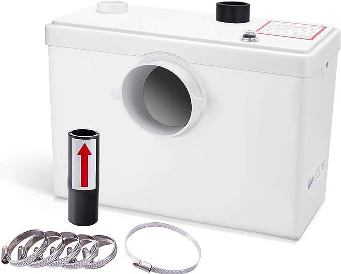 Hengda Broyeur Sanitaire WC Broyeur Pour Eliminer Les Eaux Us/ées,3//1 Station Pompe de Relevage Pour WC Lavabo 400W,Silencieuse