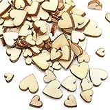 Mariage de Mini cœurs en bois pour travaux manuels