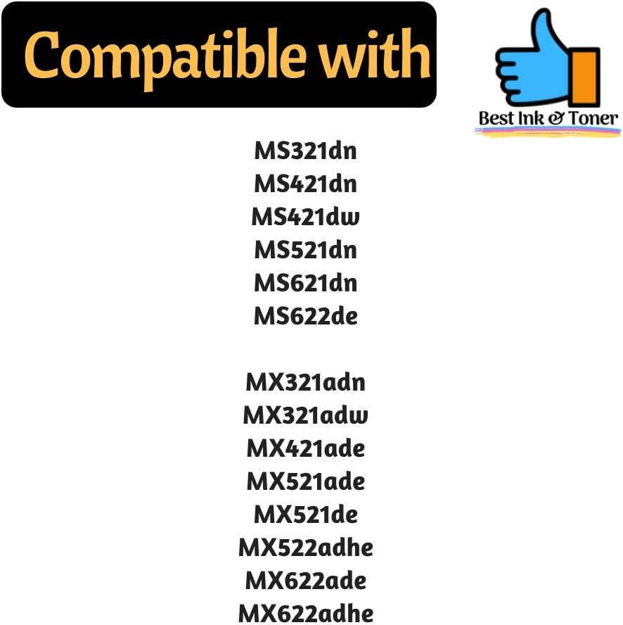 for use in MS321//421//521//622 MX421ade Best Toner Compatible with Lexmark 56F1000 Toner Cartridge MX521ade 6000 Pages MX522a MX521de