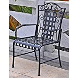 Cheap International Caravan Mandalay Iron Patio Chair – Set of 2