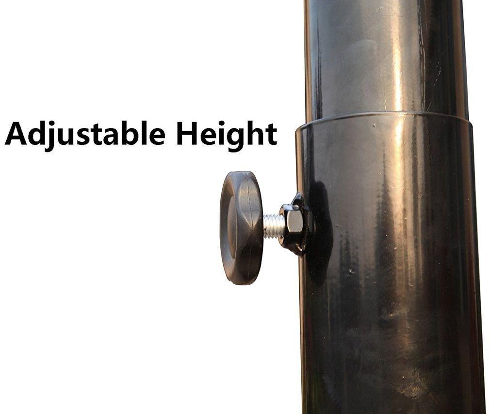 44 Zoll IUNNDS Pro Court h/öhenverstellbarer R/ückwand tragbarer Basketballkorb und St/änder-System mit 111,8/cm