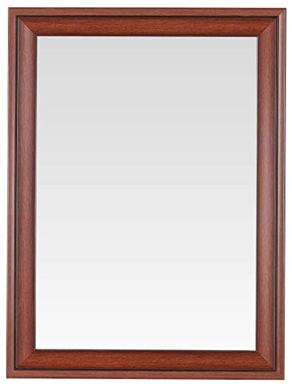 Creative Arts n Frame Brisk Brown Fiber Wood Framed Wall Mirror || Size - 15 x 21 inch || Solid Premium Black Water Resistant Synthetic Fiber Wood Made ||