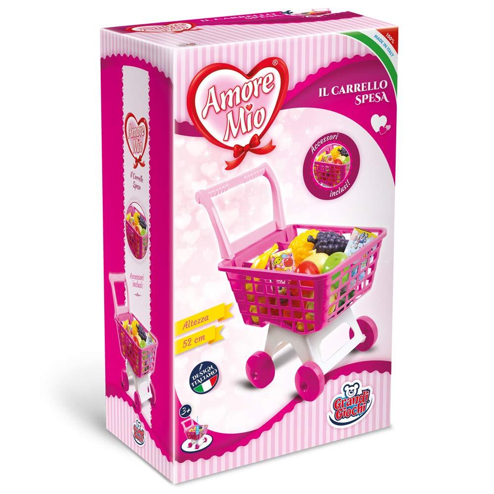 c69aa9e3749c Grandi Giochi Carrello Spesa Amore Mio, GG71054: Amazon.it: Giochi e  giocattoli