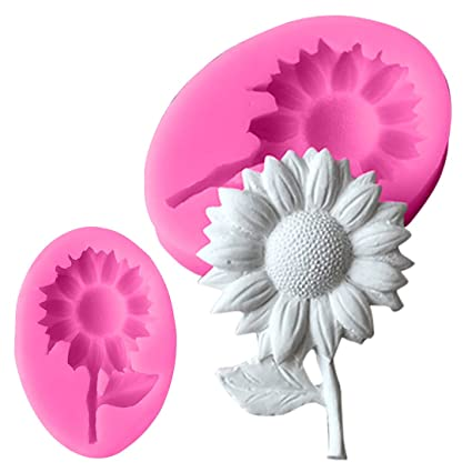 a30bce49e Image Unavailable. Image not available for. Color: Sunflower Silicone molds  flower soap mold flowers silicone soap molds flowers silica gel die 3D Aroma
