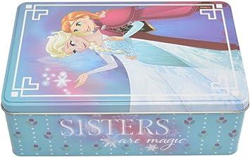 Disney Frozen Caja de metal (Colorino 42612.0): Amazon.es ...