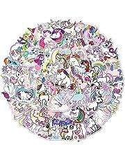Unicorn Stickers 100 Pcs Cute Cartoon Stickers Aesthetic Vinyl Stickers for Water Bottles Laptop Computer Skateboard,Sticker Decal for Teens Girls Kids