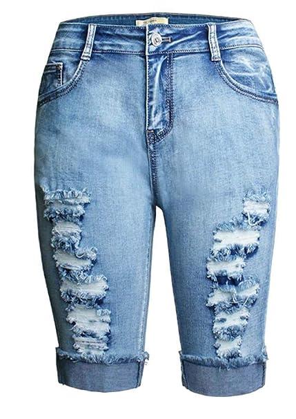 Amazon.com: Keaac Bermuda - Pantalones cortos para mujer ...