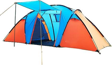 QFFL zhangpeng Tienda de campaña con dos habitaciones, una habitación, tienda de campaña, acampar al aire libre, 5 personas - 8 personas tienda de campaña, tienda de dos dormitorios, 2 colores, opcion: