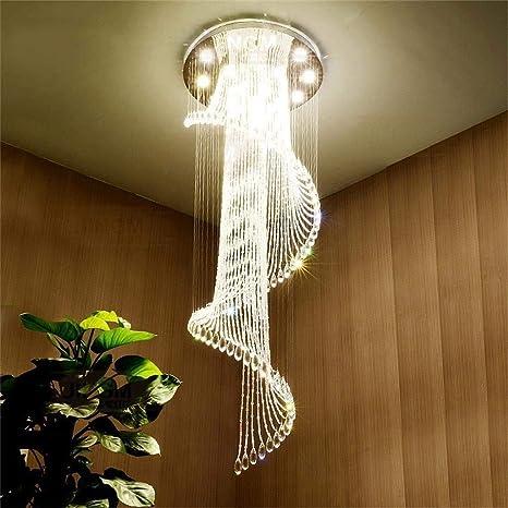 Lámpara Moderna Lámpara HU Techo Techo Cristal de de de LED eDH2E9IYW
