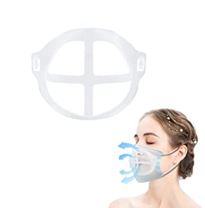 10 Pack Face Bracket for Mask, Reusable Face Mask Inner Support Frame for Breathing Freely, Lipstick Protection, Washable Mask Guard