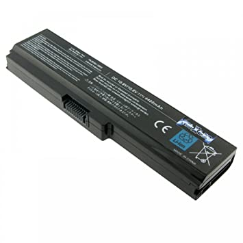 Batería para TOSHIBA PA3817U-1BRS, 6 celdas, LiIon, 10.8 V, 4400 mAh, color negro: Amazon.es: Informática